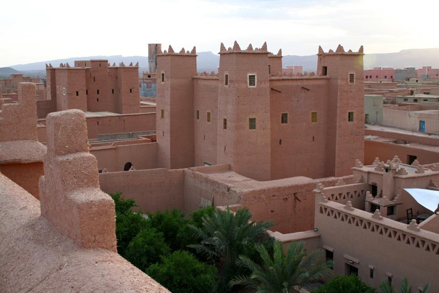 Traditionelle Lehmbauweise in Marokko