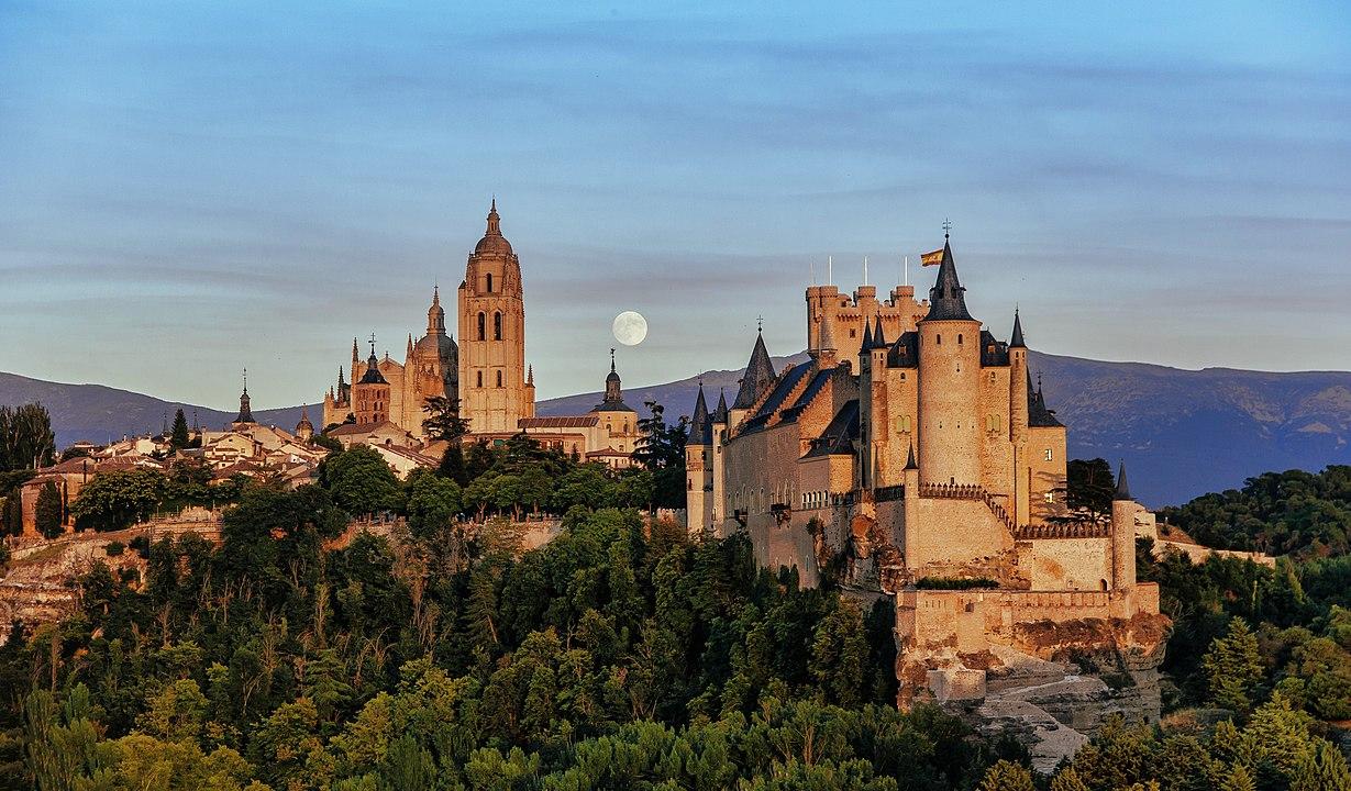 Die alte Königsresidenz Segovia