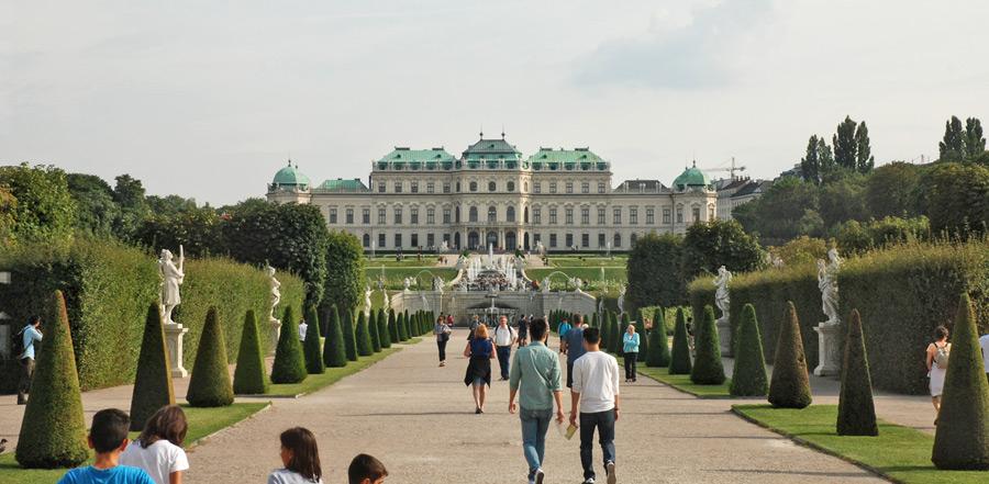 Das Schloss Belvedere in Wien